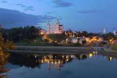 Monastero cristiano ortodosso in Bielorussia Fotografie Stock
