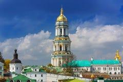 Monastero cristiano ortodosso, Pechersk Lavra, monastero delle caverne, Ucraina di Kiev Immagine Stock Libera da Diritti