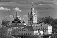 Monastero cristiano ortodosso, Pechersk Lavra, monastero delle caverne, Ucraina di Kiev Fotografia Stock