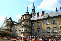 Monastero in Czestochowa Immagini Stock Libere da Diritti