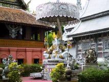 Monastero d'argento in srisuphan di Wat Fotografia Stock Libera da Diritti