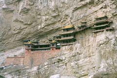 Monastero d'attaccatura, Cina Fotografia Stock Libera da Diritti