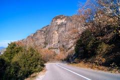 Monastero d'attaccatura a Meteora di Kalampaka in Grecia Il Meteora Immagine Stock Libera da Diritti