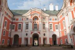 Monastero del benedettino in Broumov, l'era barrocco Fotografie Stock