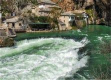 Monastero del derviscio sulla fonte del fiume di Buna Fotografia Stock