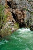 Monastero del derviscio sulla fonte del fiume di Buna Fotografie Stock