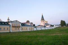 Monastero del Virgin di Iversky Svyatoozersky Immagine Stock