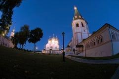 Monastero del Virgin di Iversky Svyatoozersky Fotografia Stock