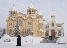 Monastero dell'uomo di Piously-Nikolaev. Fotografia Stock Libera da Diritti