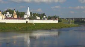 monastero della Bianco-pietra nella città di Staritsa archivi video