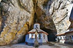 Monastero della caverna di Ialomita Fotografie Stock