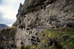 Monastero della caverna di Vanis Qvabebi in Georgia immagine stock libera da diritti