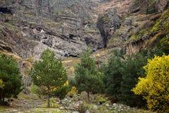Monastero della caverna di Vanis Qvabebi in Georgia fotografie stock