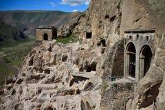 Monastero della caverna di Vardzia, Georgia Immagine Stock