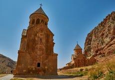Monastero della montagna di Noravank dell'Armenia Immagini Stock Libere da Diritti