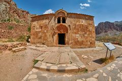 Monastero della montagna di Noravank dell'Armenia Immagine Stock Libera da Diritti