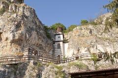 Monastero della roccia immagine stock