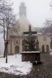 Monastero della st Anna Basilica Franciscan della montagna e il Internat immagine stock libera da diritti