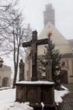 Monastero della st Anna Basilica Franciscan della montagna e il Internat fotografia stock