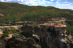 Monastero della st Barlaam in Grecia Immagini Stock Libere da Diritti