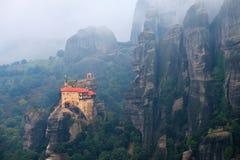 Monastero della st Nikolaos Anapafsas, Meteora, Grecia Immagini Stock