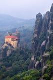 Monastero della st Nikolaos Anapafsas, Meteora, Grecia Fotografia Stock