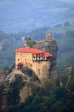 Monastero della st Nikolaos Anapafsas, Meteora, Grecia Fotografie Stock