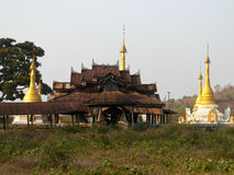 Monastero della strada della Birmania Mogok Fotografie Stock Libere da Diritti