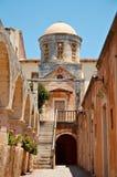 Monastero di Agia-Triada Immagine Stock