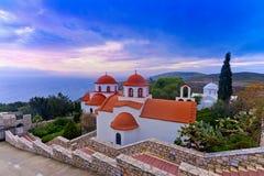 Monastero di Agios Savvas, Kalymnos - Grecia Fotografia Stock