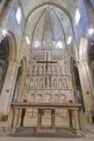 Monastero di alto altare della Santa Maria de Poblet Immagine Stock Libera da Diritti