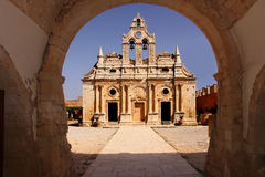 Monastero di Arkadi Immagini Stock