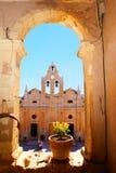 Monastero di Arkadiou a Crete, Grecia immagine stock