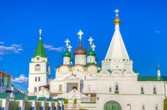Monastero di ascensione di Pechersky in Nižnij Novgorod immagine stock