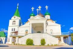 Monastero di ascensione di Pechersky in Nižnij Novgorod fotografia stock libera da diritti