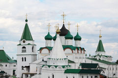 Monastero di ascensione di Pechersky, Nizhniy Novgorod Fotografie Stock Libere da Diritti