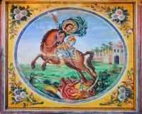 Monastero di Bachkovo. Particolare di una pittura di parete Fotografia Stock