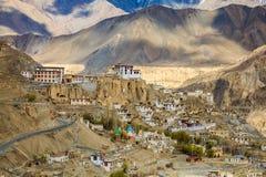 Monastero di Basgo in Ladakh India Fotografia Stock Libera da Diritti