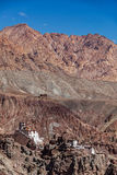 Monastero di Basgo Ladakh, India Immagini Stock Libere da Diritti