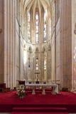 Monastero di Batalha. Altare e abside della chiesa Fotografia Stock Libera da Diritti