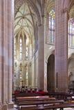 Monastero di Batalha. Altare e abside della chiesa Fotografie Stock Libere da Diritti