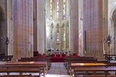 Monastero di Batalha L'altare e l'abside della chiesa Fotografie Stock Libere da Diritti