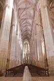 Monastero di Batalha Nave ed altare della chiesa Gotico e ManuBatalha, Portogallo Immagini Stock