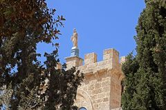 Monastero di BBeit Jimal o di Beit Jamal Catholic vicino a Beit Shemesh Immagine Stock