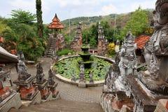 Monastero di Brahmavihara Arama, isola di Bali (Indonesia) fotografie stock libere da diritti