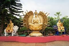 Monastero di Buddhas di diecimila Immagine Stock
