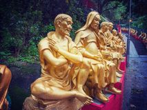 Monastero di Buddhas di diecimila in Hong Kong Fotografia Stock Libera da Diritti