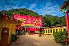 Monastero di Buddhas di diecimila in latta di Sha, Hong Kong, Cina Fotografie Stock Libere da Diritti