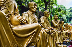 Monastero di Buddhas di diecimila (uomo Sze grasso) Fotografie Stock