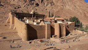 Monastero di Catherines del san. Penisola del Sinai. L'Egitto archivi video